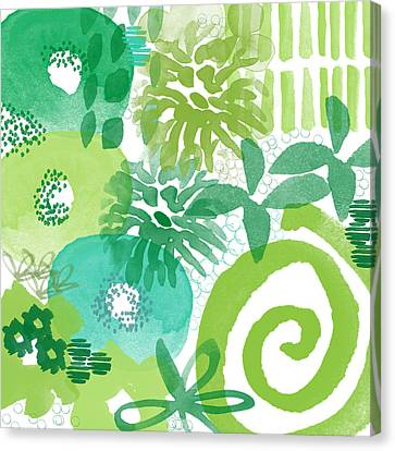 Green Garden- Abstract Watercolor Painting Canvas Print