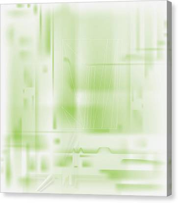 Green Ghost City Canvas Print by Kevin McLaughlin