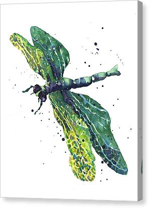Green Goddess Canvas Print by Alison Fennell