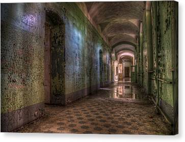 Green Hallway Canvas Print by Nathan Wright