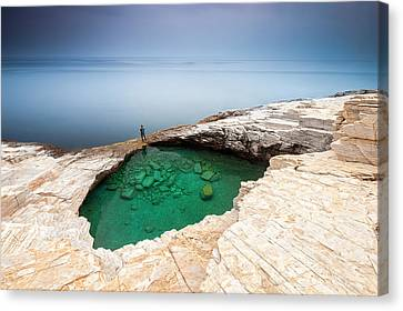 Green Hole Canvas Print