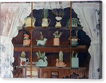 Green House Window Canvas Print by Mary Helmreich