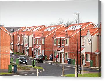 Green Housing Development Canvas Print