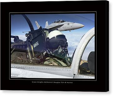 Green Knights Canvas Print by Larry McManus