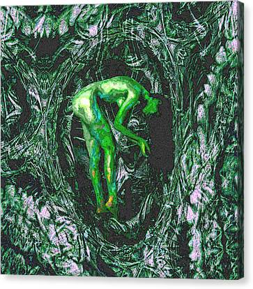 Canvas Print featuring the painting Gaia Earthly Goddess Nymph Farie Mother Earth Fine Art Print by David Mckinney