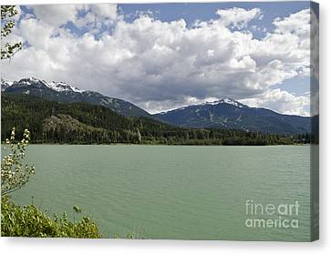 Canvas Print featuring the photograph Green Lake At Whistler by Maria Janicki