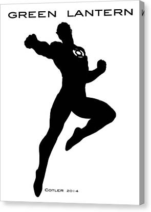 Green Lantern Canvas Print by GR Cotler