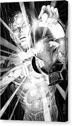 Jordan Canvas Print - Green Lantern by Ken Branch