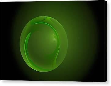 Green Lantern Marble Canvas Print by Doug Morgan