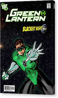 Comic. Marvel Canvas Print - Green Lantern by Mark Rogan