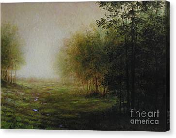 Green Canvas Print by Larry Preston