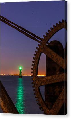 Green Lighthouse Canvas Print by Semmick Photo