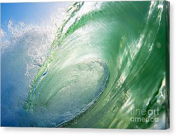 Canvas Print featuring the photograph Green Machine by Paul Topp