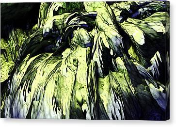 Canvas Print featuring the digital art Green by Matt Lindley