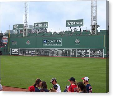 Green Monster Canvas Print by Catherine Gagne