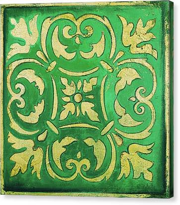 Mosaic Canvas Print - Green Mosaic by Patricia Pinto