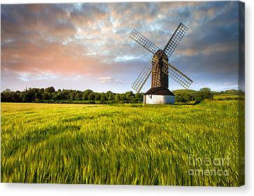 Green Ocean ''pitstone Windmill'' Canvas Print by Radoslav Toth