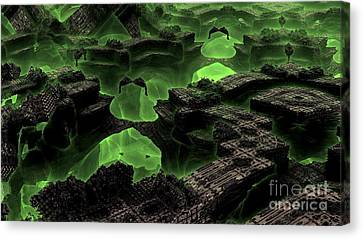 Green Odyssey Canvas Print by Bernard MICHEL
