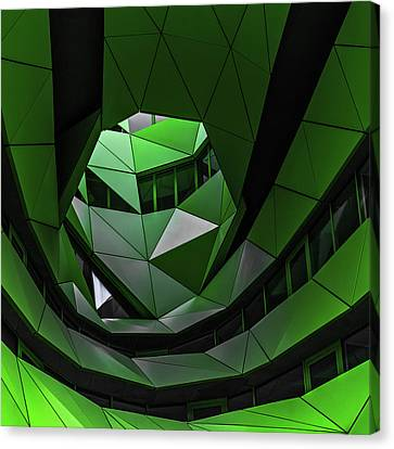 Ceiling Canvas Print - Green Offices by Gilbert Claes