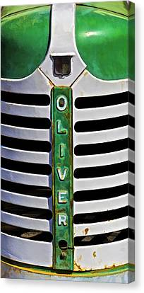 Green Oliver Farm Tractor Canvas Print by David Letts