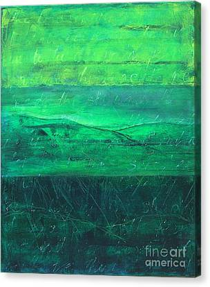 Canvas Print featuring the painting Green Pastures by Jocelyn Friis