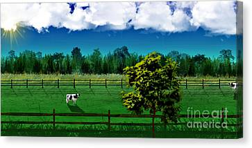 Green Pastures Canvas Print by Thomas OGrady
