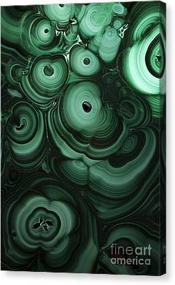 Green Patterns Of Malachite Canvas Print