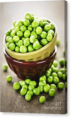 Green Peas Canvas Print by Elena Elisseeva