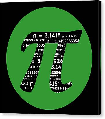 Green Pi Canvas Print