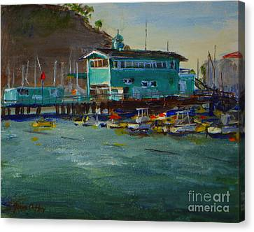 Green Pier Early Evening Canvas Print