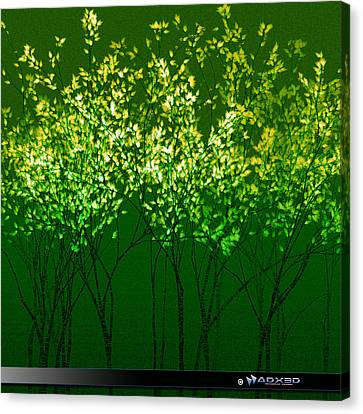 Green Print Canvas Print