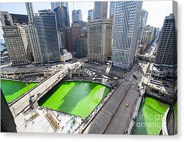 Green River Chicago Canvas Print by Jeff Lewis