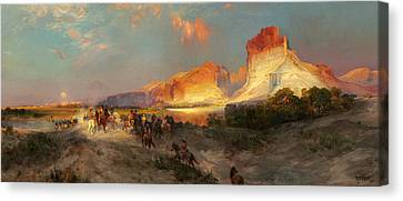 Green River Cliffs Wyoming Canvas Print by Thomas Moran