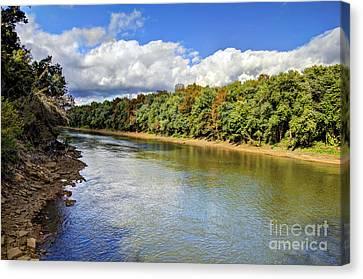 Green River Canvas Print by Joan McCool