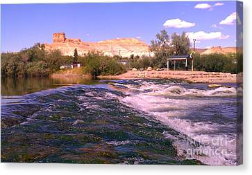 Canvas Print featuring the photograph Green River Rapids by Chris Tarpening