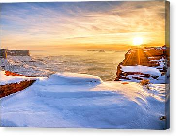 Green River Snow Canvas Print by Chad Dutson