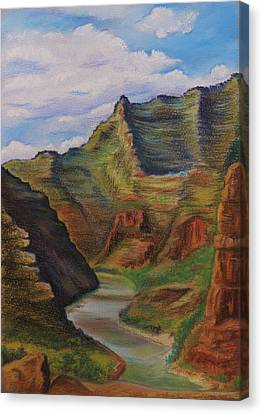 Green River Utah Canvas Print by Lucy Deane