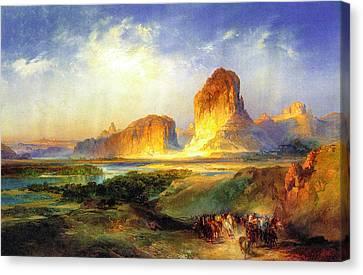 Green River Wyoming Canvas Print by Thomas Moran