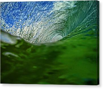 Green Room Wave Canvas Print by Brad Scott