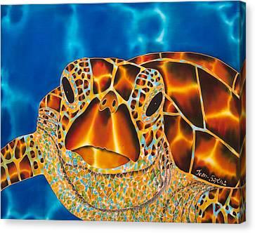 Green Sea Turtle Canvas Print by Daniel Jean-Baptiste