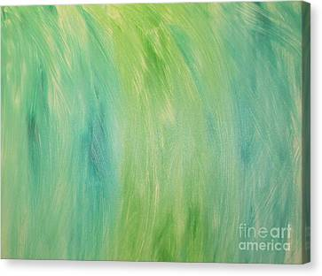 Canvas Print featuring the painting Green Shades by Barbara Yearty
