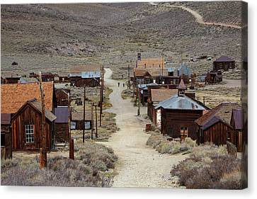 Green Street, Bodie Ghost Town Canvas Print by David Wall
