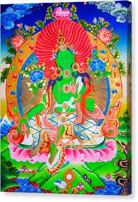 Green Tara 11 Canvas Print