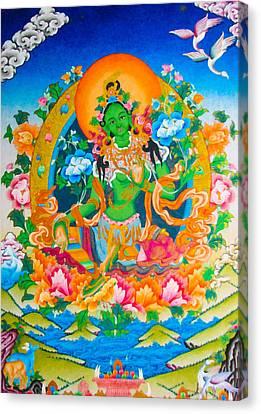Green Tara 12 Canvas Print