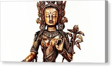 Tibetan Canvas Print - Green Tara by Tim Gainey