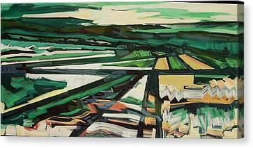 Green Valley Views Canvas Print by Catherine Jones Davies