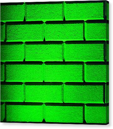 Green Wall Canvas Print by Semmick Photo
