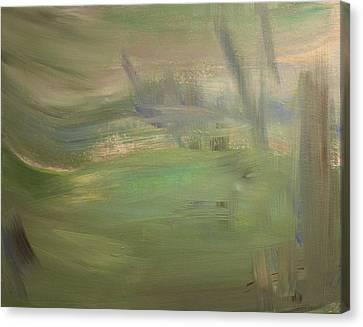 Green Wind Canvas Print by Tanya Byrd