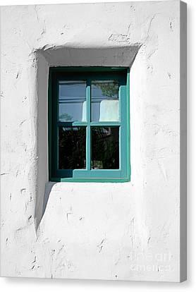 Green Window Canvas Print