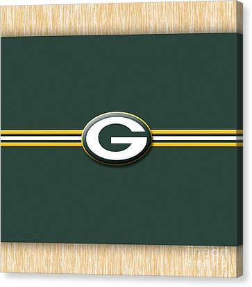Greenbay Packers Canvas Print by Marvin Blaine